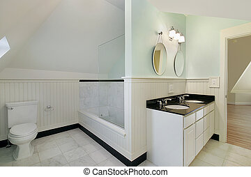 baño, construcción casera, nuevo