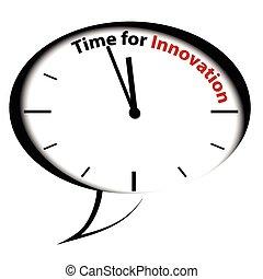 bańka, clock-time, dla, innowacja