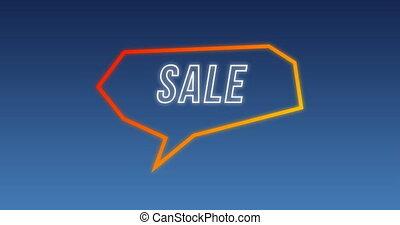 bańka, graficzny, sprzedaż, ciemne tło, pomarańcza, szary, mowa, 4k