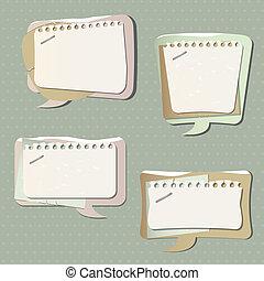 bańki, papier, mowa