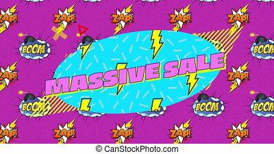 bańki, tło, zap, masywny, na, sprzedaż, tekst, purpurowy, ...