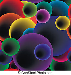 bańki, wektor, pattern., seamless, okrągły