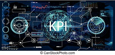 (ba), 表示器, ビジネス, analytics, キー, パフォーマンス, (kpi)