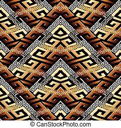 ba, modernos, pattern., seamless, superfície, listrado, meander, geomã©´ricas, 3d