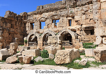 Baalbeck, Lebanon - The ancient Roman ruins in the Beqaa...