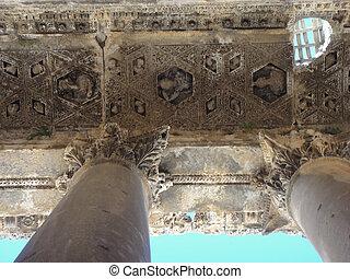 Baalbek ruins in Lebaono