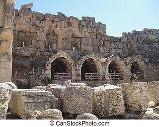 Baalbek ruins - seen morning time