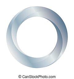 baan, illustratie, ring, zilver, icon., vector, design.