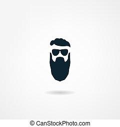 baard, pictogram