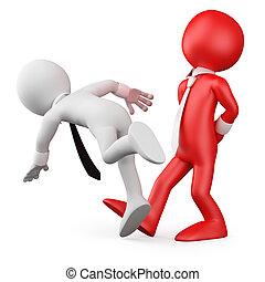 baas, maken op, werknemer, uitstapjes