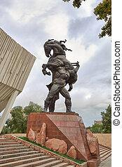 Baatyr Kaba uluu Kojomkul (1888-1955). Bishkek, Kyrgyzstan