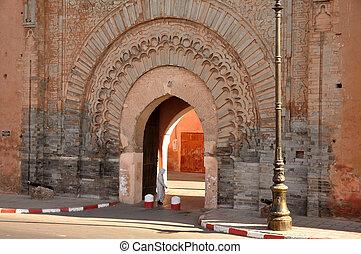 Bab Agnaou - one of the nineteen gates of Marrakech, Morocco