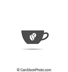 bab, aláír, kávéscsésze