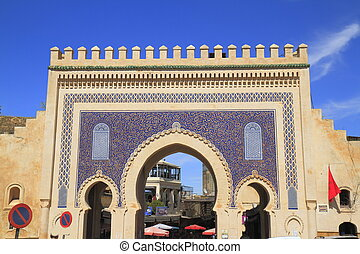 Bab Bou Jeloud in Fes, Morocco
