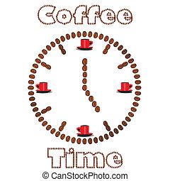 bab, kávécserje, elkészített, karóra