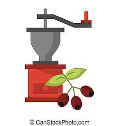 bab, kávécserje grinder, zöld