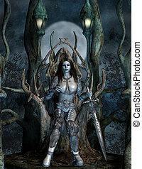 babarian throne - 3d render