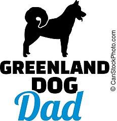 babbo, groenlandia, silhouette, cane