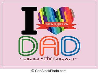 babbo, idea, tuo, padre, disegno, giorno, scheda, felice