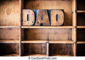 babbo, legno, tema, concetto, letterpress