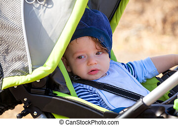 Babby boy in stroller
