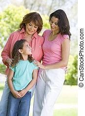 babcia, córka, dorosły, wnuk
