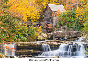 Babcock State Park, West Virginia, USA at Glade Creek Grist...