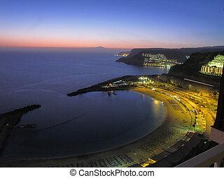babička, západ slunce, canaria, rico, puerto