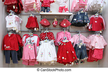 babies clothes in shop