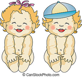 Babies Love - Scalable vectorial image representing babies...