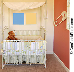 Babies nursery and crib