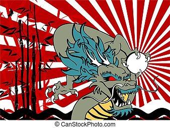 baboo, アジア人, 背景, ドラゴン