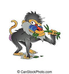 Baboon cartoon