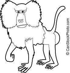 Baboon icon outline