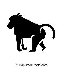 Baboon Icon Vector