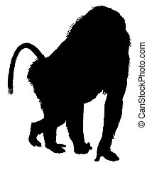 Baboon silhouette