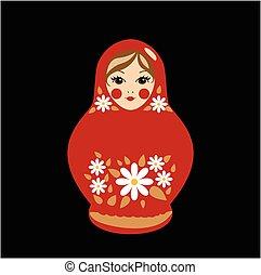 Babushka Doll in Red - Russian traditional souvenir %u2014...