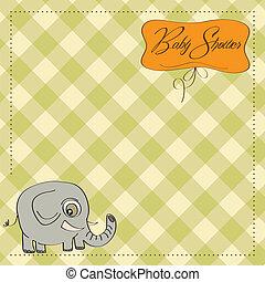 baby, aankondiging, romantische, kaart
