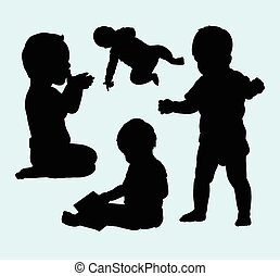 Baby activity silhouette