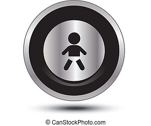baby aluminum button