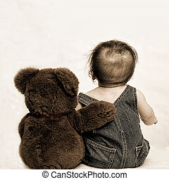 Baby and Teddy Bear (No Texture)