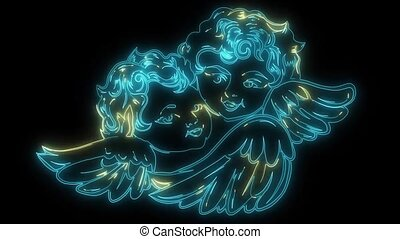 baby Angel icon laser animation