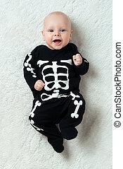 baby, angezogene , skelett