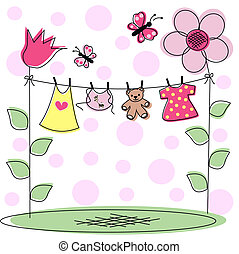 baby announcement - newborn baby card