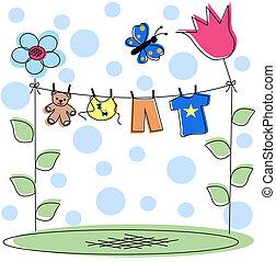 baby announcement - newborn baby card