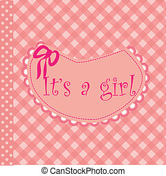 baby arrival announcement for girl