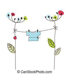... Baby Arrival Card   Baby Shower Card   Greeting Card With.