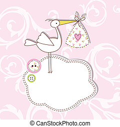 Baby arrival card - Card with copy space