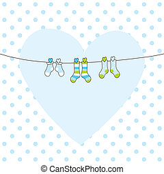 Baby arrival card - Cute card with copy space
