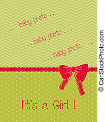 Baby Arrival Card with Place for your photo or text